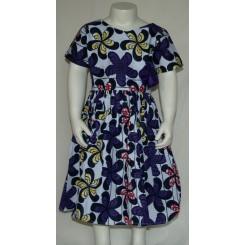 Lilla kjole med satin