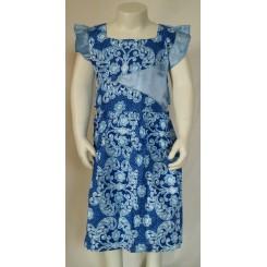 Blå blomstret kjole