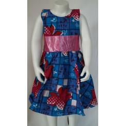 Kjole med lyserød satin
