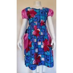 Blålig kjole