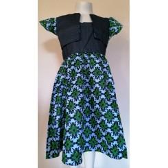 Grøn kjole med bolero