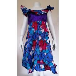 Blålig kjole med lilla top