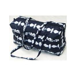Mørkeblå mellemstor taske