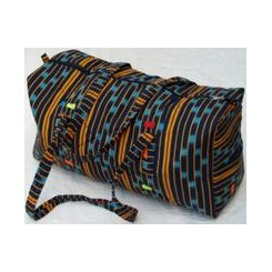 Sort taske med orange striber