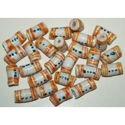 Hvide perler med ringe