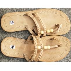 Sandaler med flettet overdel