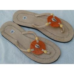 Sandaler med orange rondel og 1 kauri