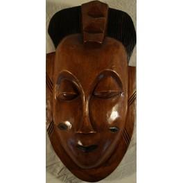 Stor lysebrun maske