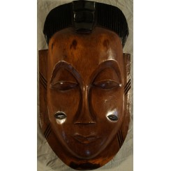 Lysebrun maske