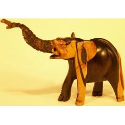 Lille elefant i ibenholt