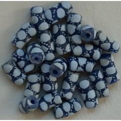 Blå ovale perler