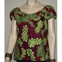 Grøn/lilla bluser