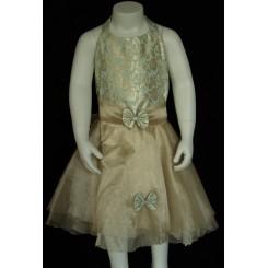 Gyldenbrun kjole i organza