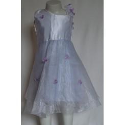 Hvid kjole i satin og organza