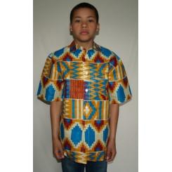 Flerfarvet skjorte