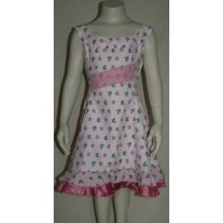 Kjole med lyserøde mønstre