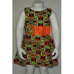 Kjole med orange kant