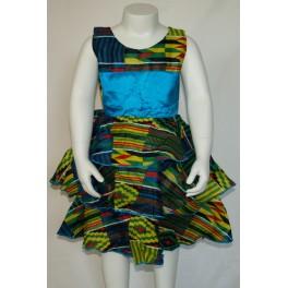 Kjole med satin bånd